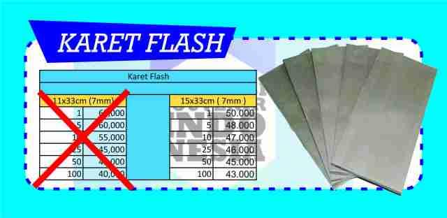 harga karet flash promo